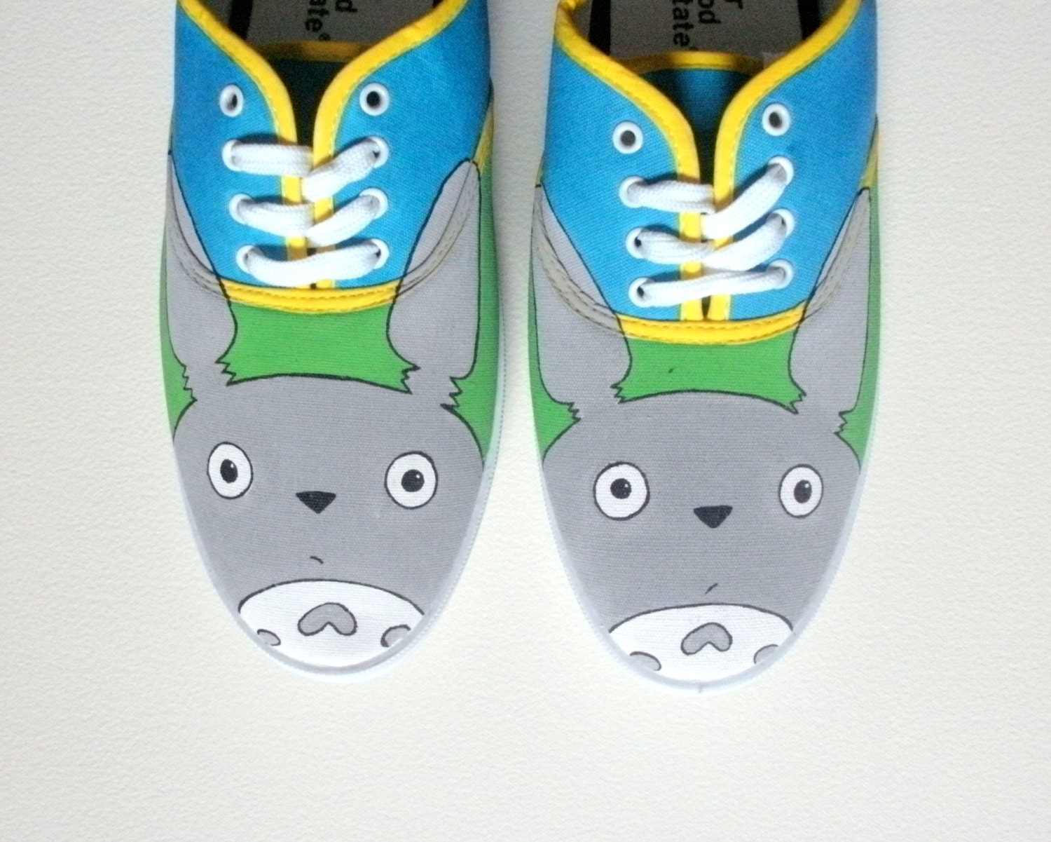 Totoro Hand Painted Customised Shoes - Trainers - Studio Ghibli