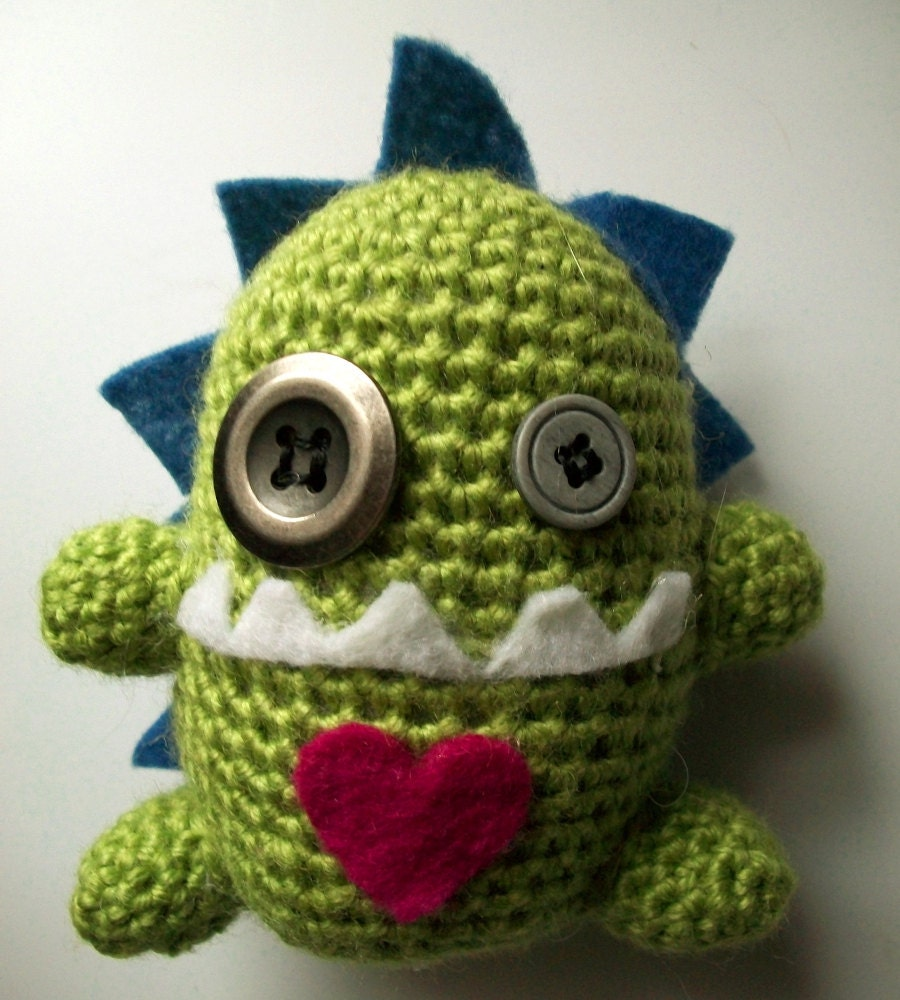 Amigurumi Ugly Doll : Items similar to Ugly Doll Monster Crochet Amigurumi ...