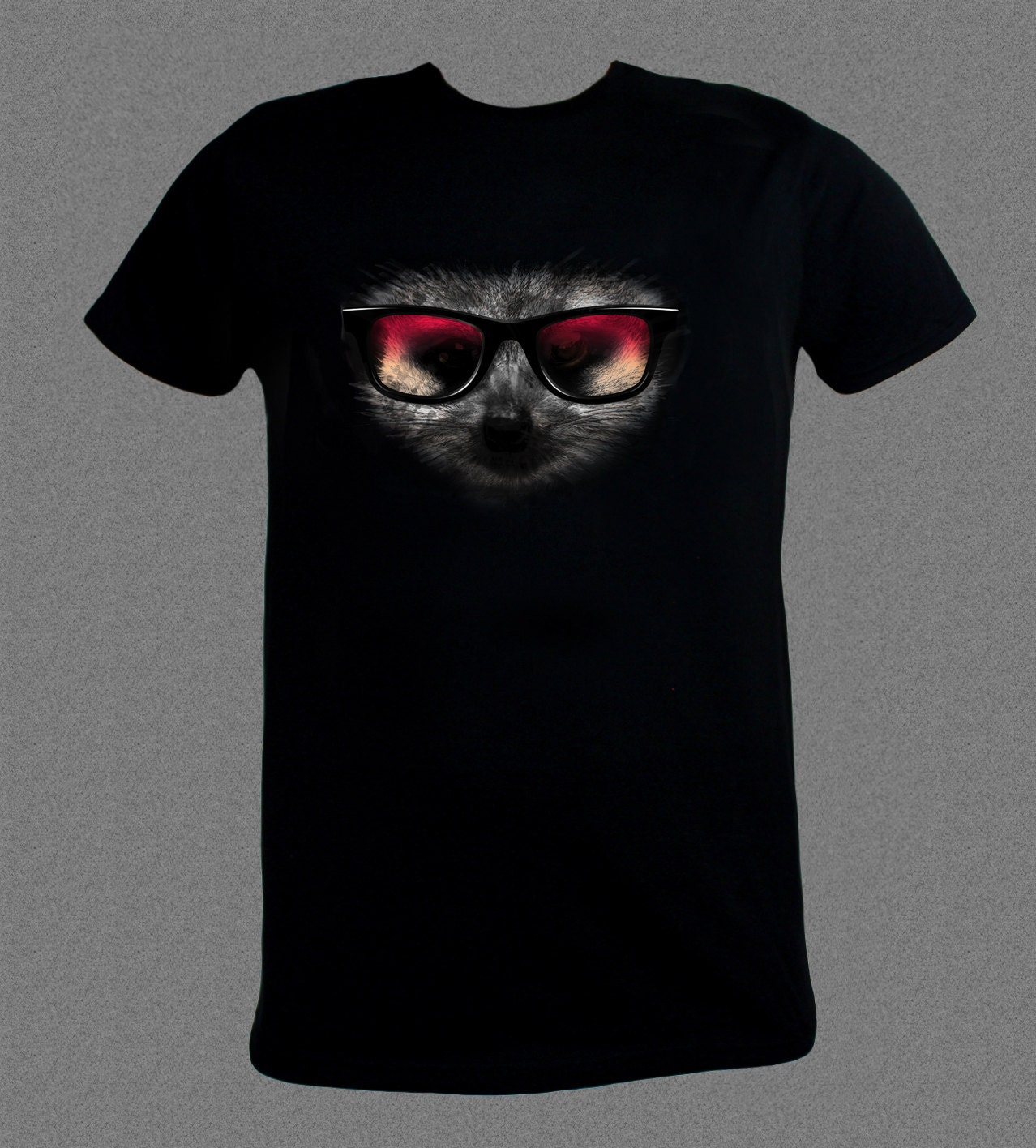 Meercat Face with Shades Nature Animal Africa Funny  Tshirt