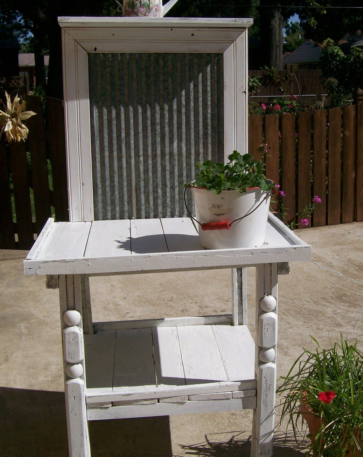 shabbychic vintage garden potting table bench by 3vintagehearts
