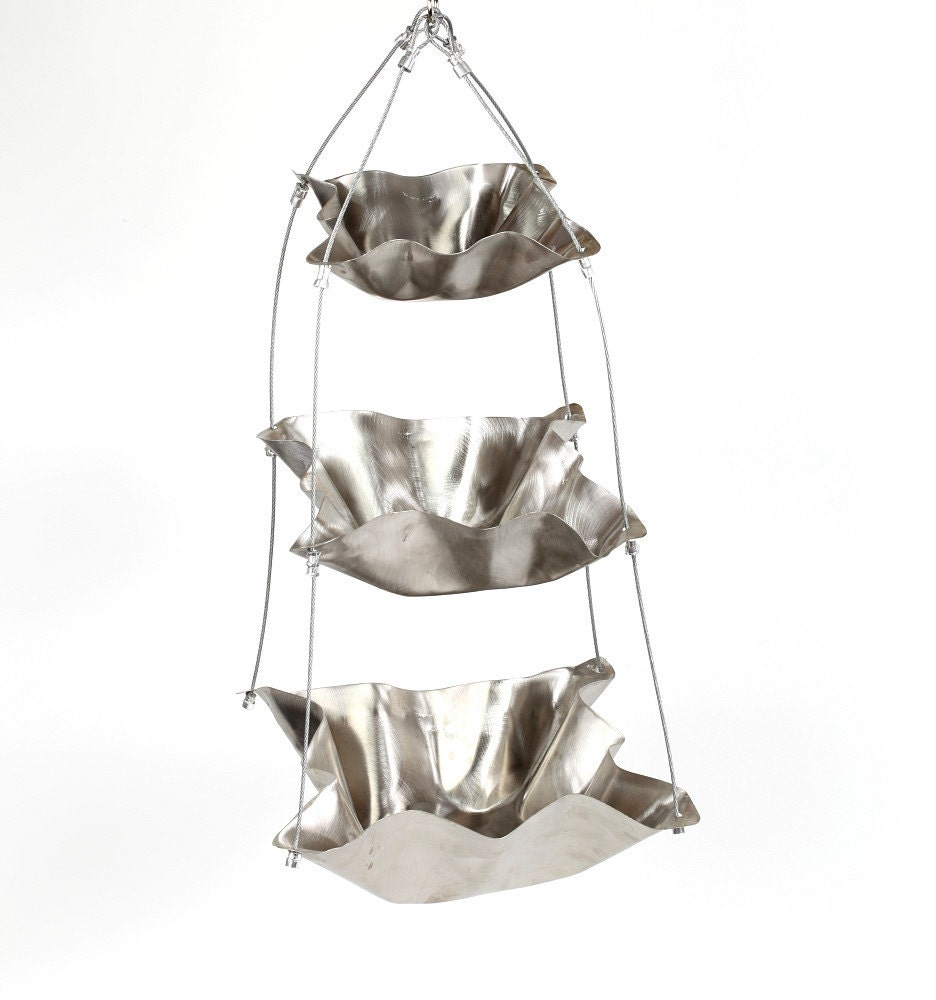 Stainless Steel Hanging Hand Hammered Bowls Eco By Hammeritout