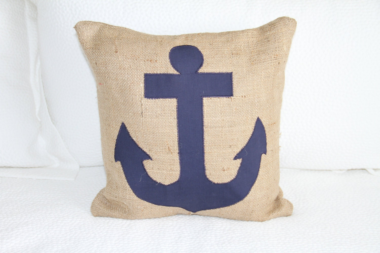 vintage-style burlap pillow