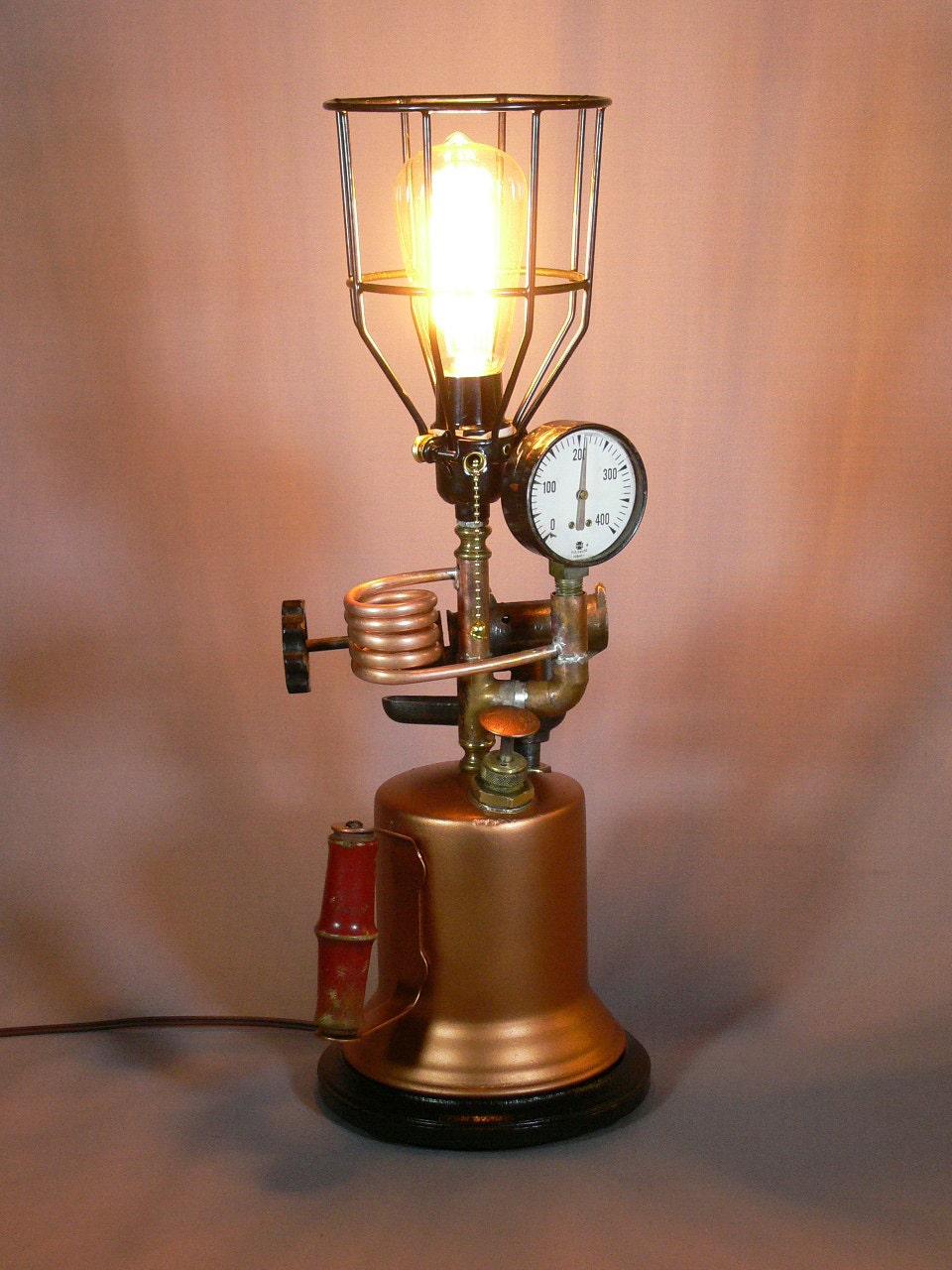 Steampunk Turner Torch Lamp Edison Bulb Steampunk by ...