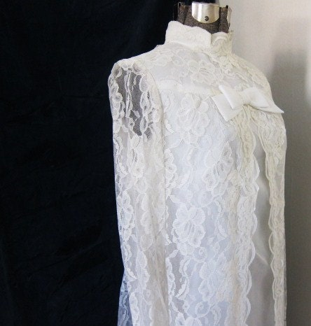 1960s lace wedding dress gracious From boutiquefantastique