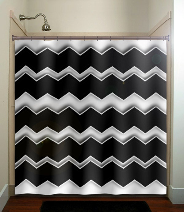 any color chevron shower curtain bathroom decor fabric kids bath white