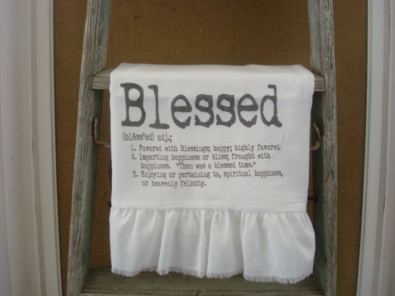 Shabby Chic, Cottage, French Style Ruffled Flour Sack Towels