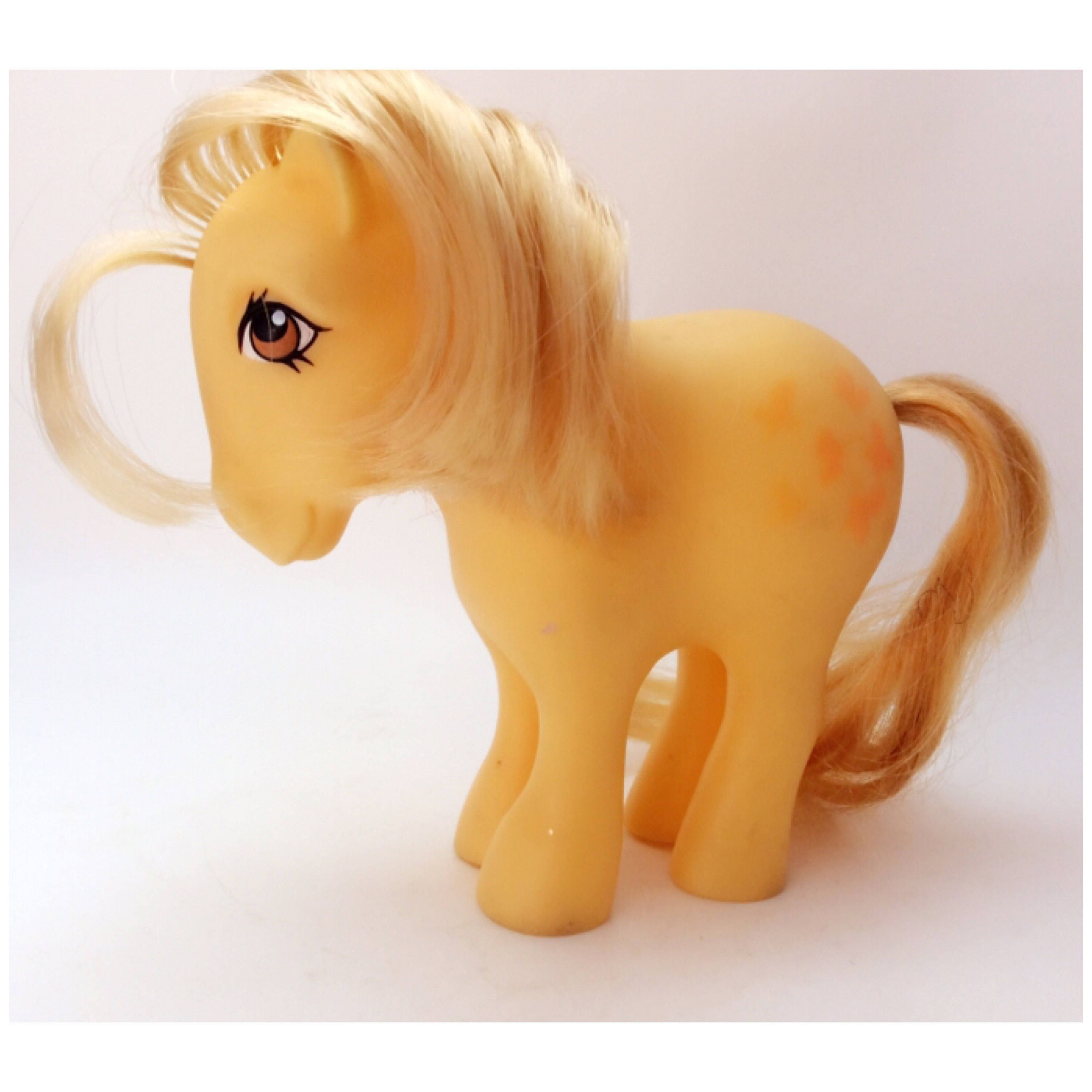 Vintage Hasbro 1980s My Little Pony G1 Butterscotch Pony Pretty MLP Toy Collectible