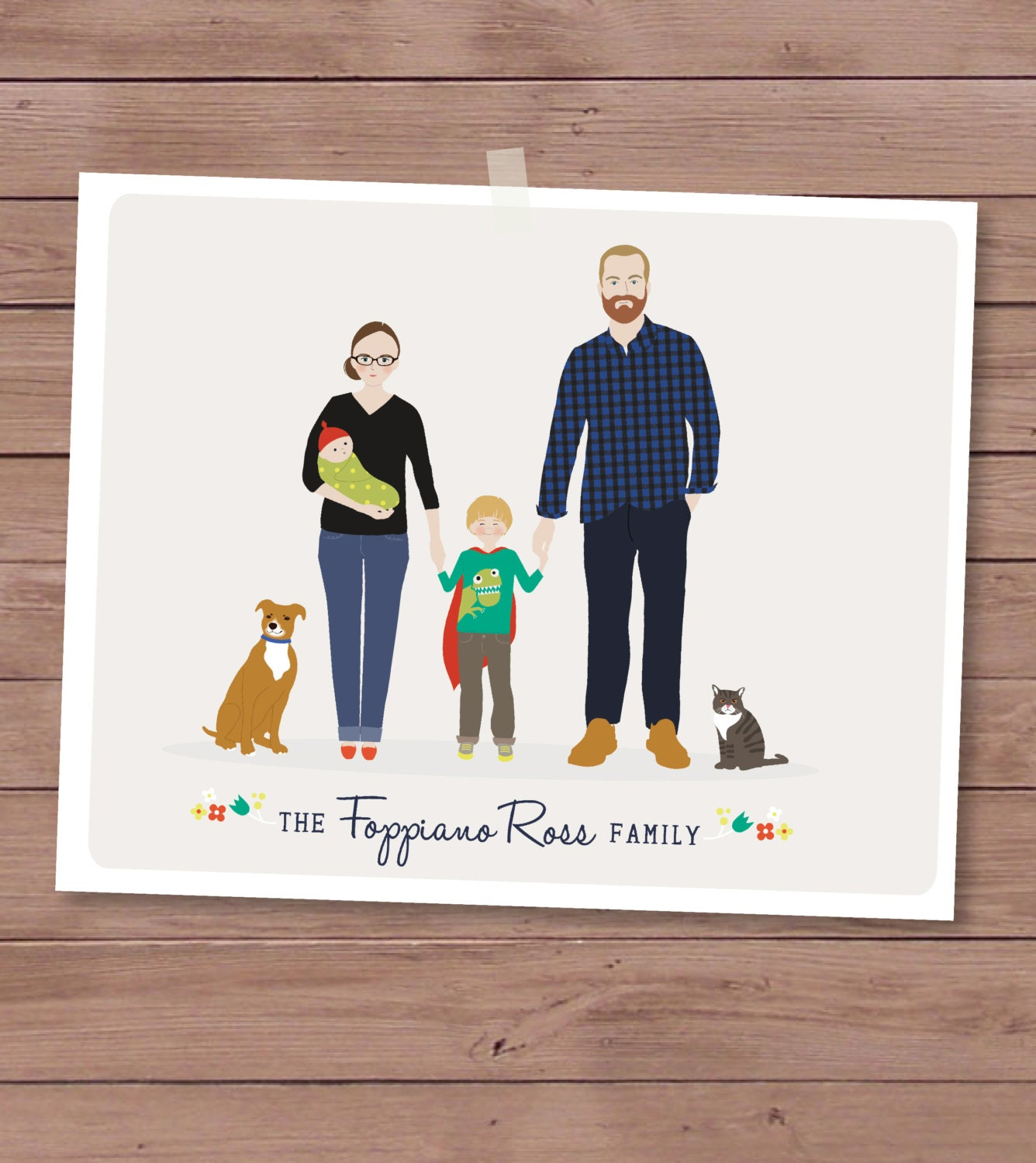 Additional Human for Custom Family Portrait - HenryJamesPaperGoods