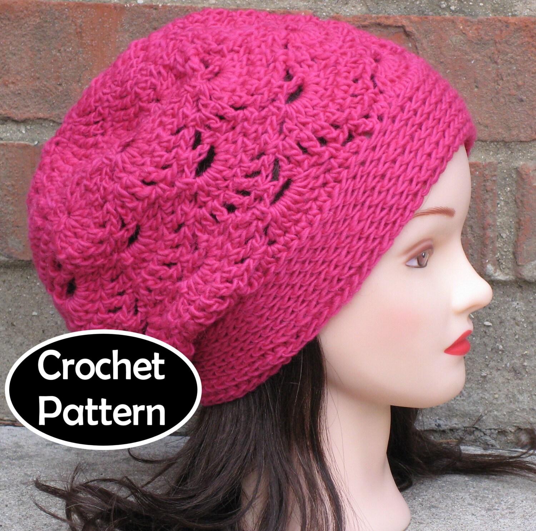 Crochet Hat Pattern Teenager : CROCHET HAT PATTERN Pdf Instant Download Kayla by AlyseCrochet