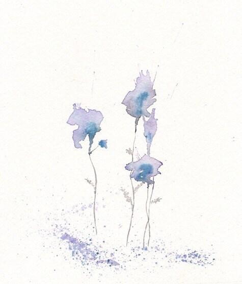 Fragrance lavendar flower watercolor print 8x10