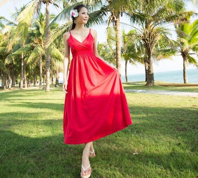 To women s red yellow dress deep V collar braces dress wedding dress