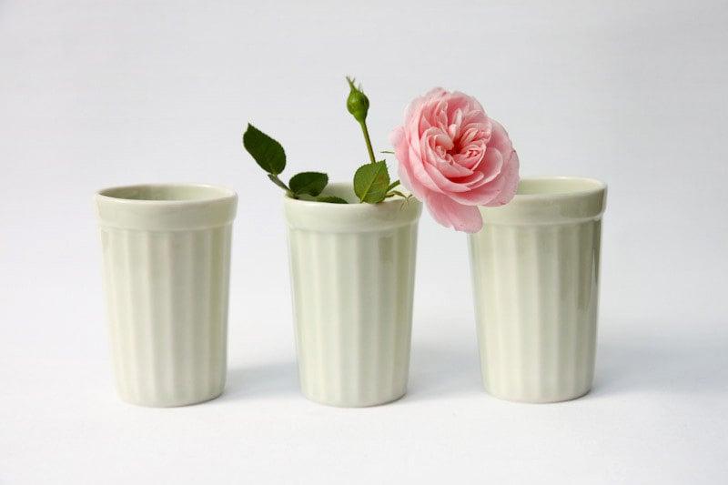 Celadon Green Porcelain cup / beaker/  tumbler - Baskakova