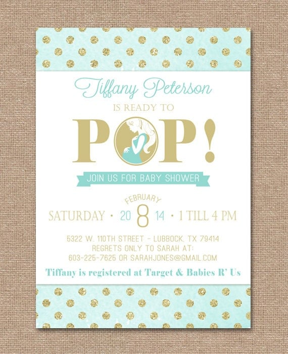 Printable Baby Shower Invitation Ready To Pop By