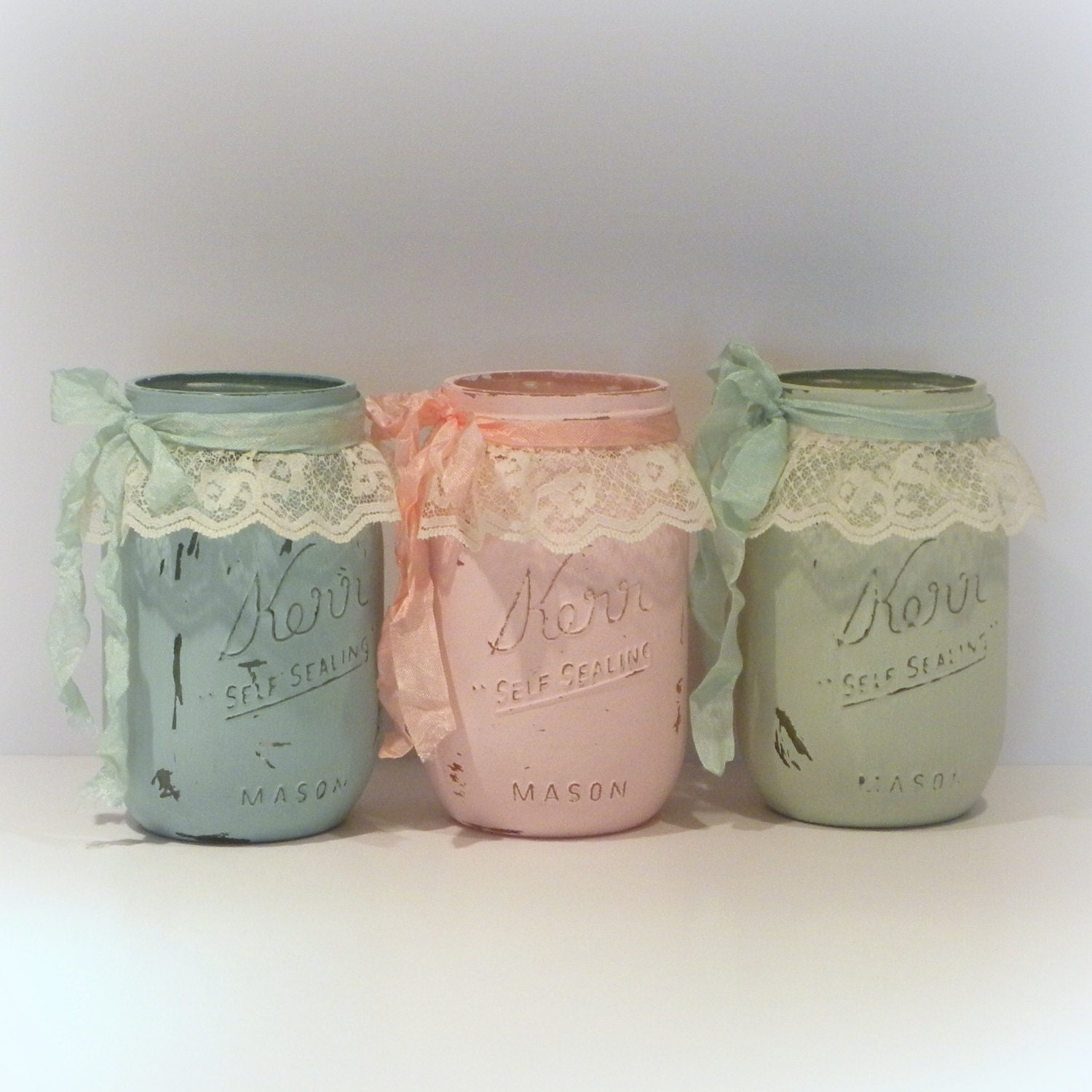 Popular items for shabby chic jar on Etsy