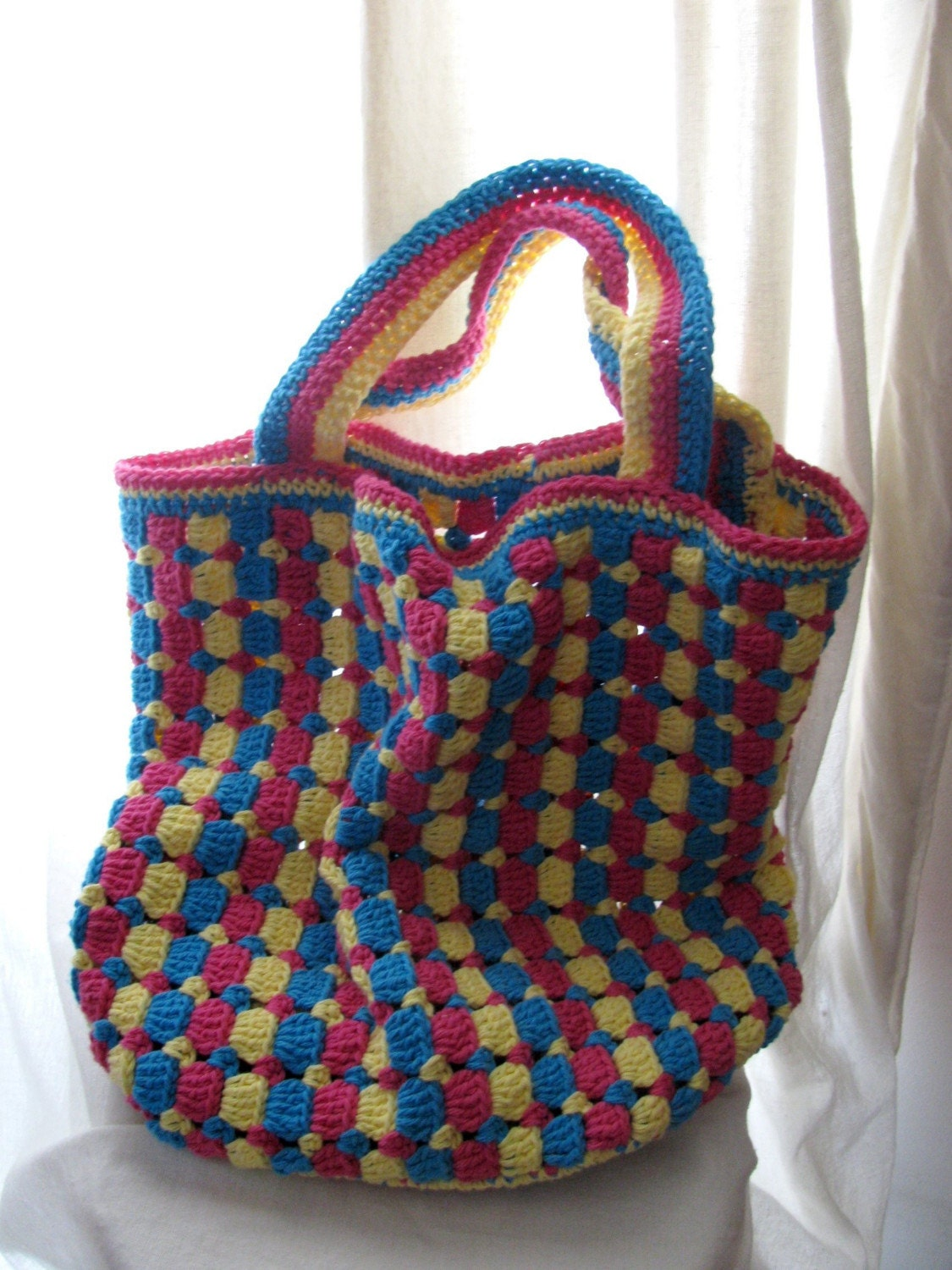 Crochet Bag Pattern Pdf : Citrus Tote Bag Crochet Pattern PDF by pepperberry on Etsy