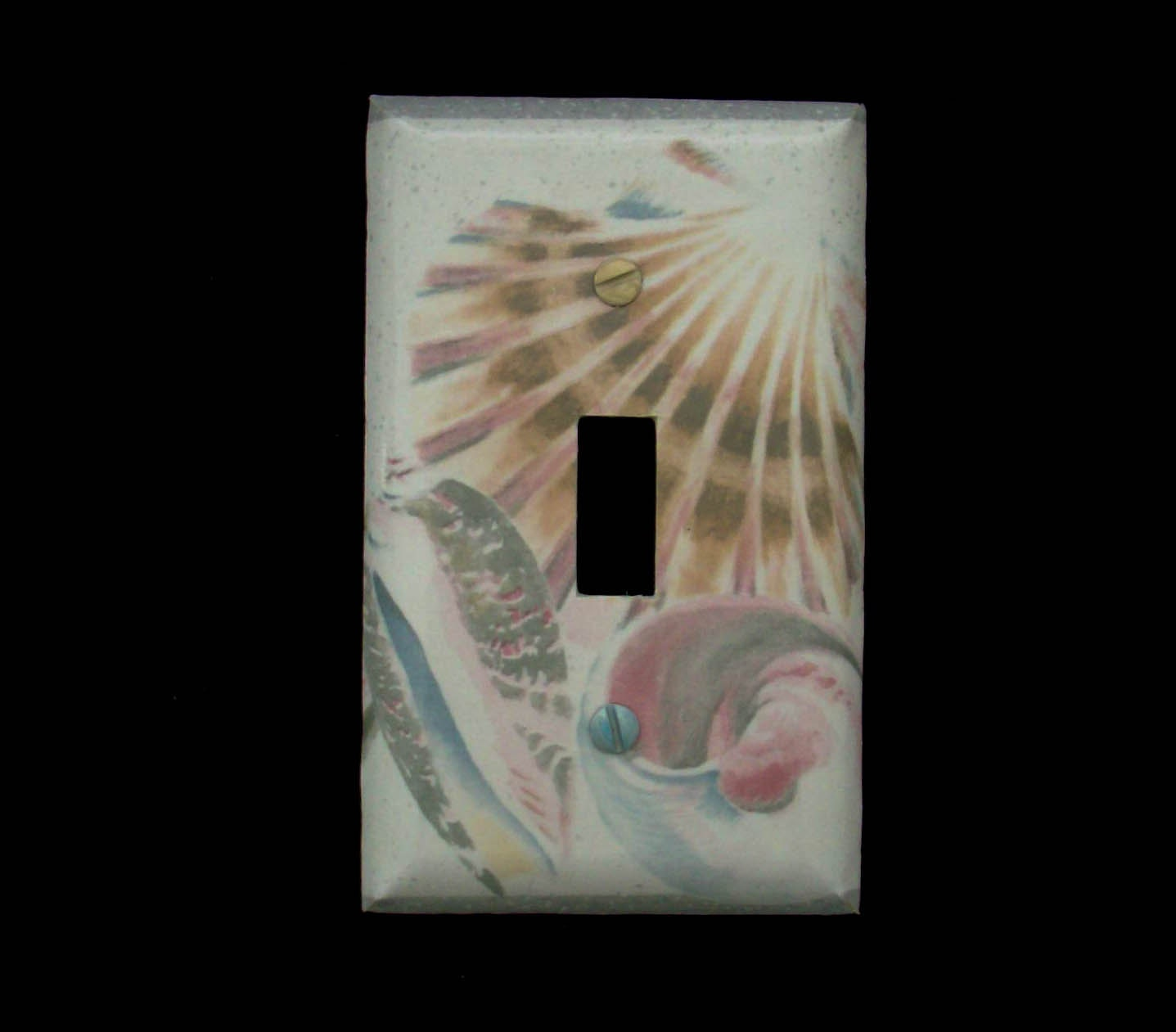 Ocean Single Light Switch Plate Cover By Cathyscraftycovers