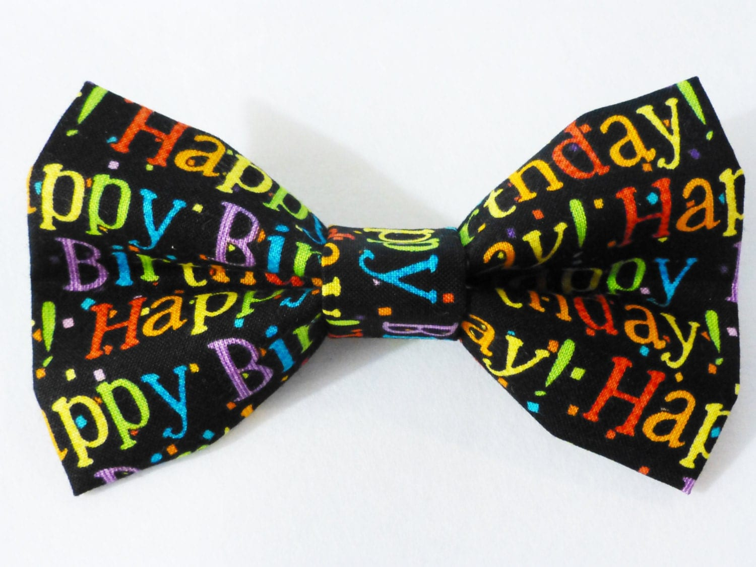 Happy Birthday Bow Tie for Dog Cat or Human by CarlitoCreations