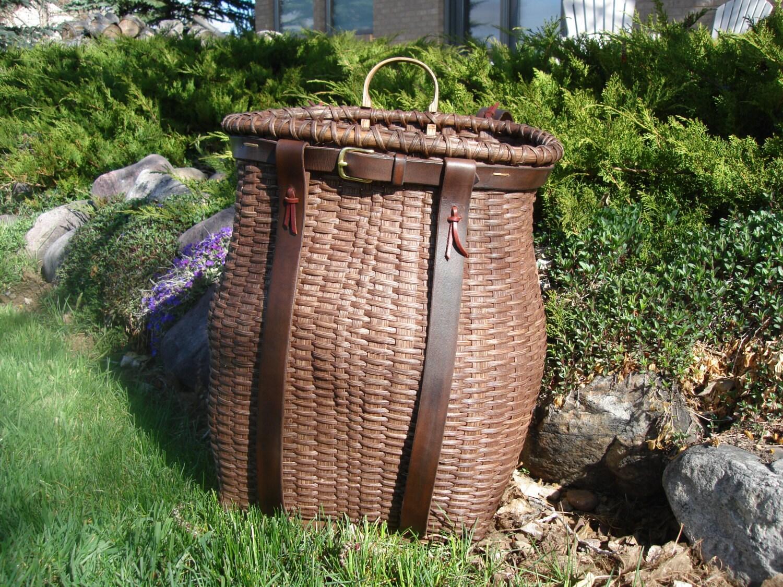 Handmade Pack Basket : Handmade adirondack trapper pack basket by beavercreektraders