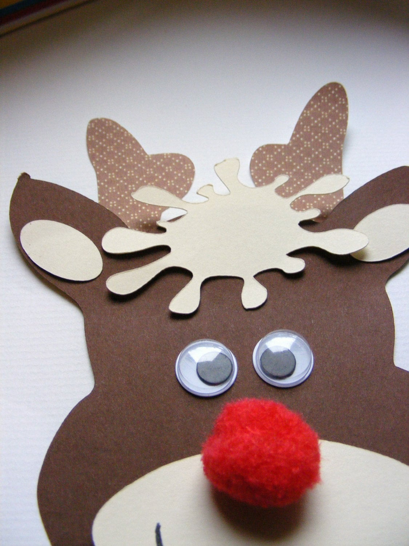 Paper rudolph head craft kit for kids - mimiscraftshack