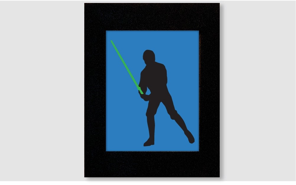 Star Wars Luke Skywalker Silhouette Wall Art Print by ...