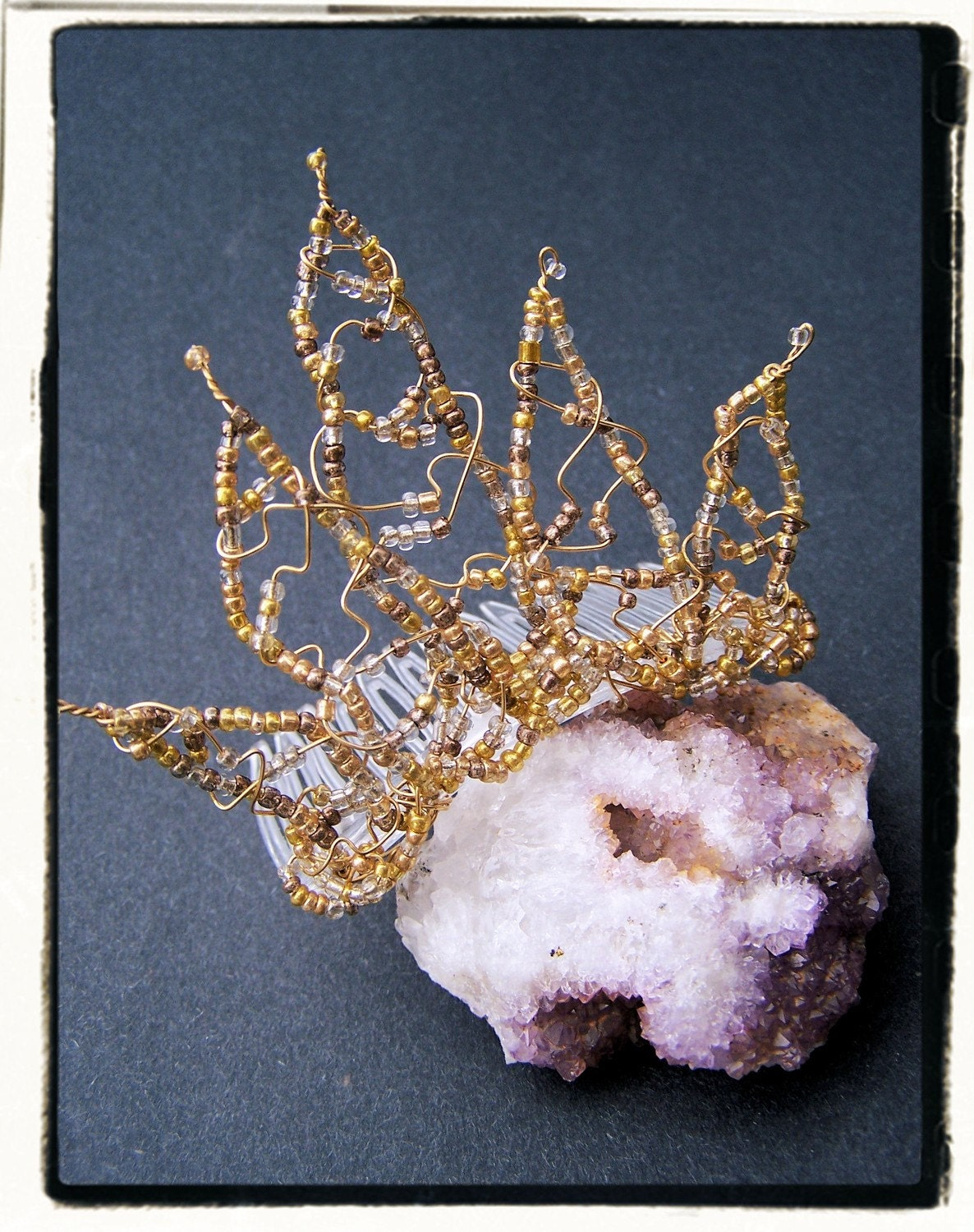 Golden Fire Petite Fairy Tiara by RecycledRockstah on Etsy