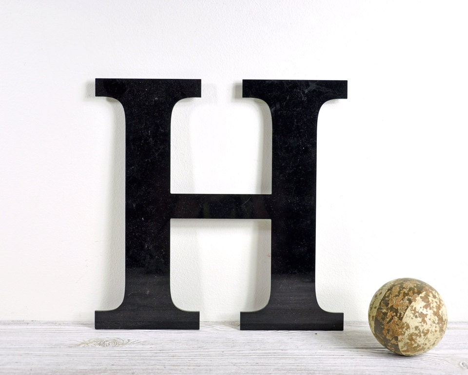 Vintage Sign Letter H / Industrial Decor