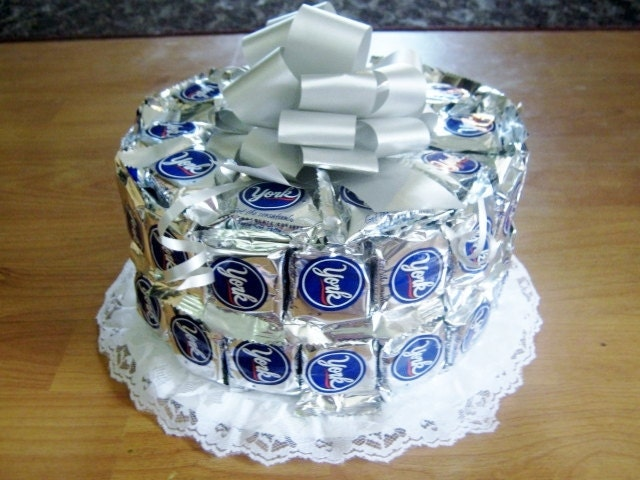 Items Similar To Double Layer Single Tier Candy Bar Cake
