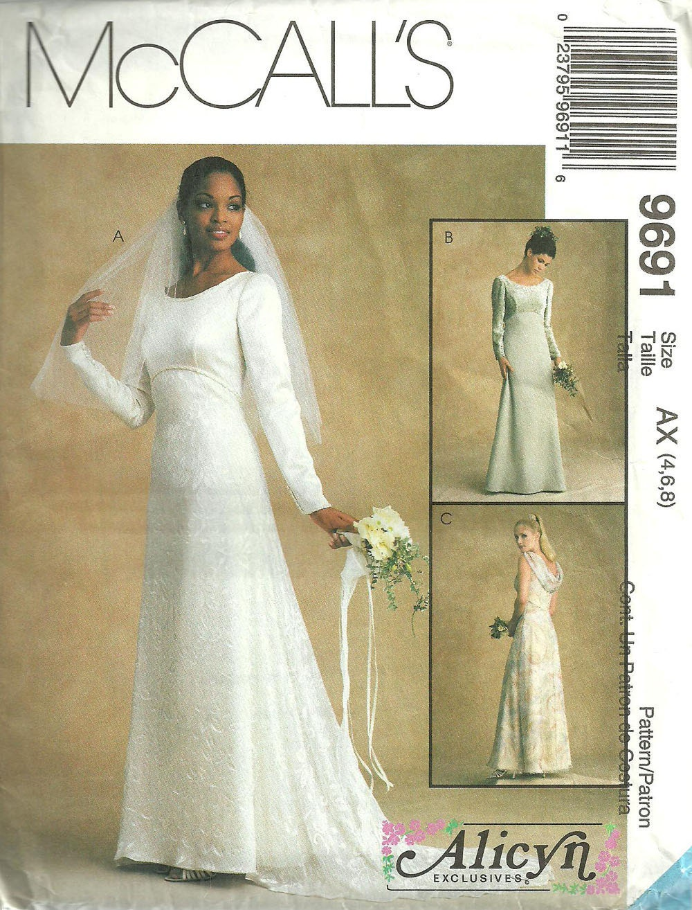 Bridal Gown Sewing Pattern From McCalls 9691 By StudioGpatterns