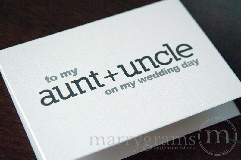 Wedding Gift For Uncle : ... CardsGift for Aunt and UncleOn My Wedding Day Thank You Note