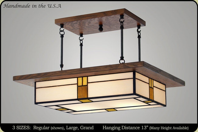 Dining Room Light Fixture Mission Style Vintage By
