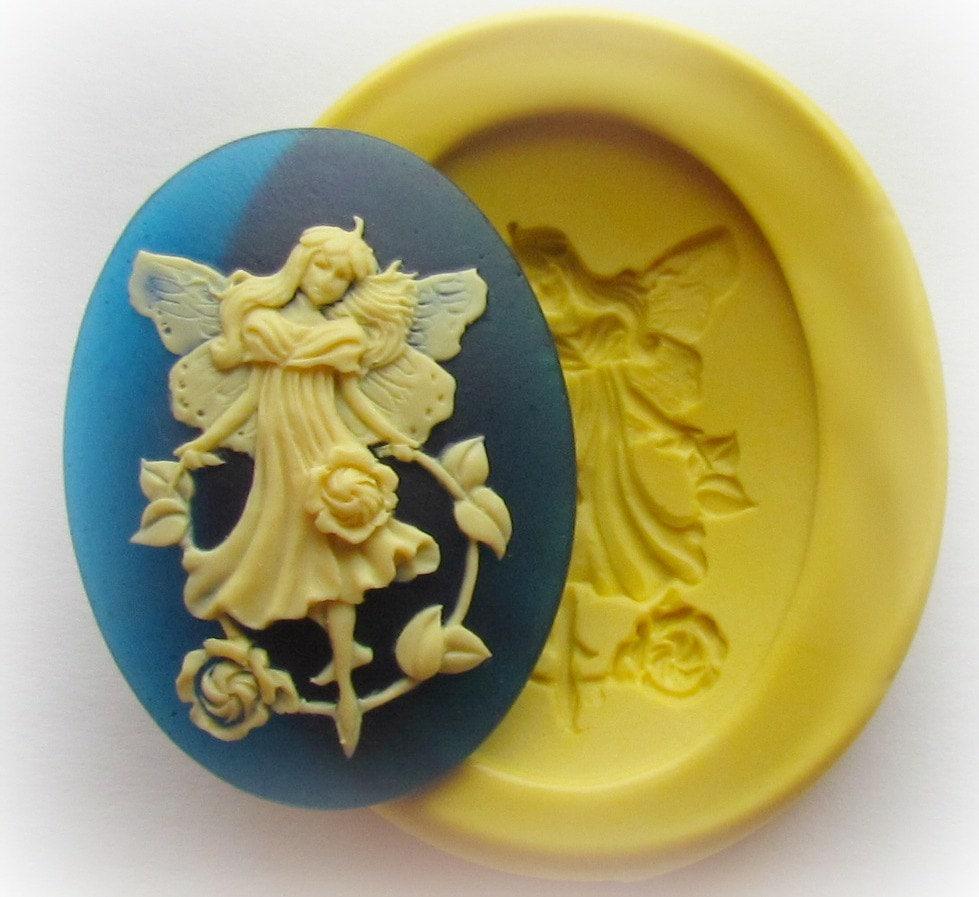 Fairy cameo mold jewelry fondant clay resin by whysperfairy