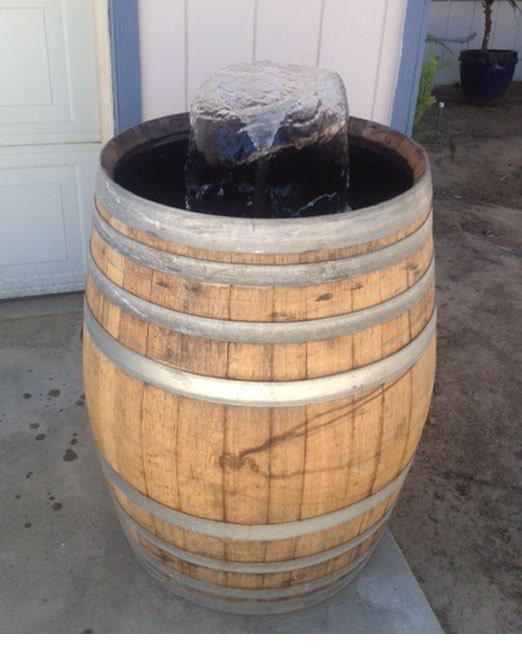 Wine Barrel Fountain With Flower Water By Wyldatheartcustoms