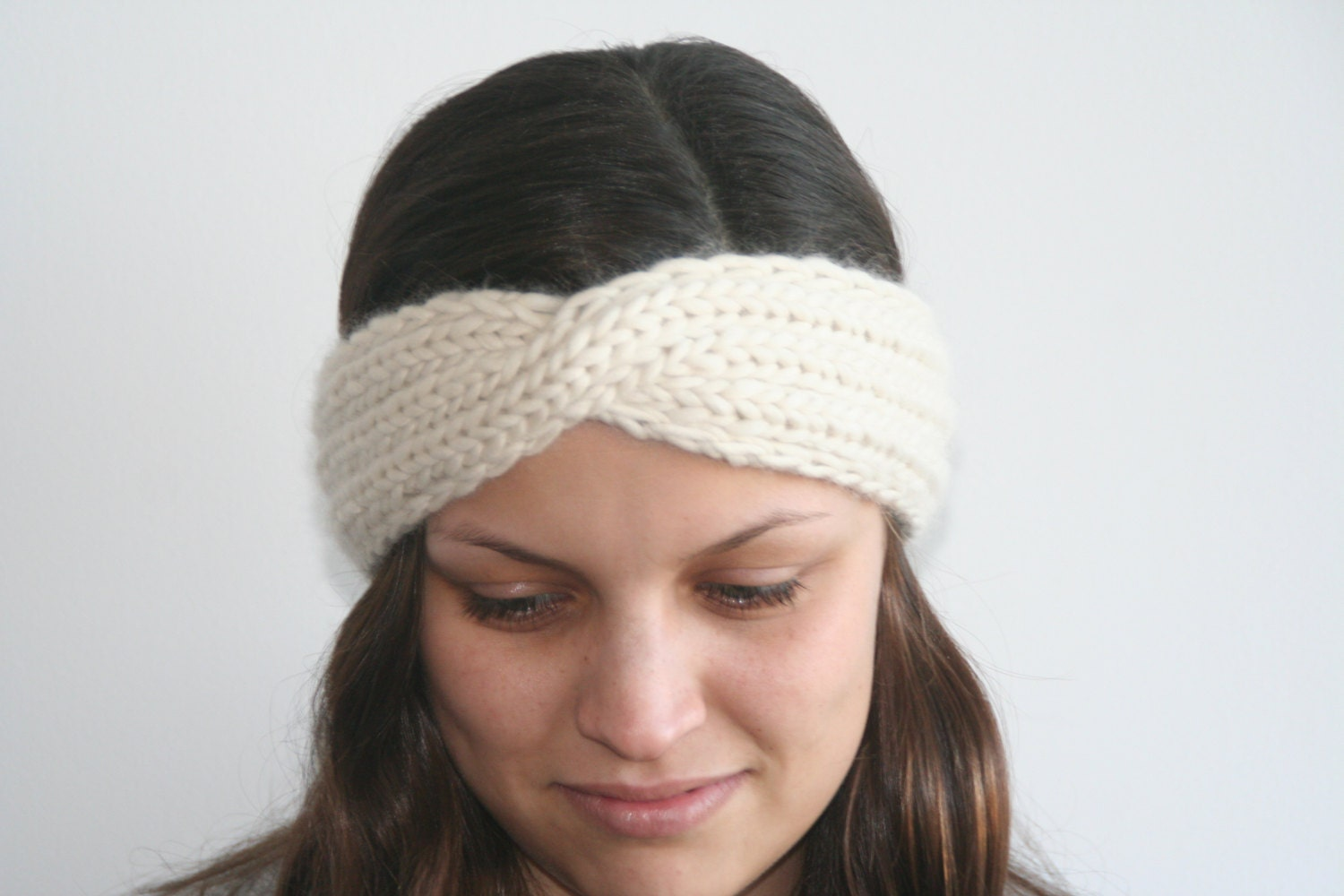Twisted Headband Knit Pattern : Twisted Turban Headband Knitting Pattern PDF by NellyKnits on Etsy
