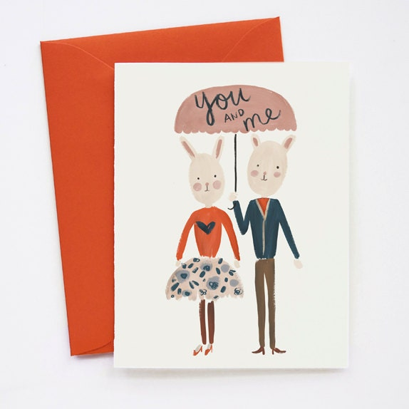 you and me - Etsy Valentines Cards