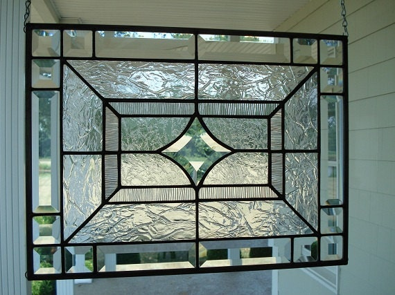 Beveled star clear textures stained glass by theglassshire for Window designs nz