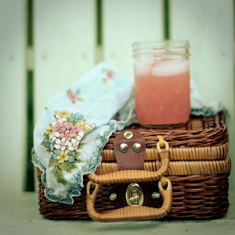 Pink Picnic, gallery-wrapped canvas 12x12