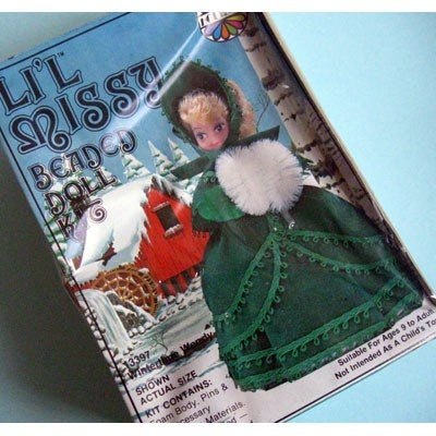 vintage lil beaded doll kit wintertime wendy by