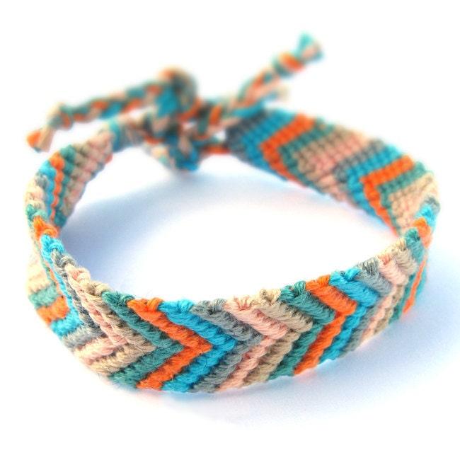 items similar to decorative knotted friendship bracelet on