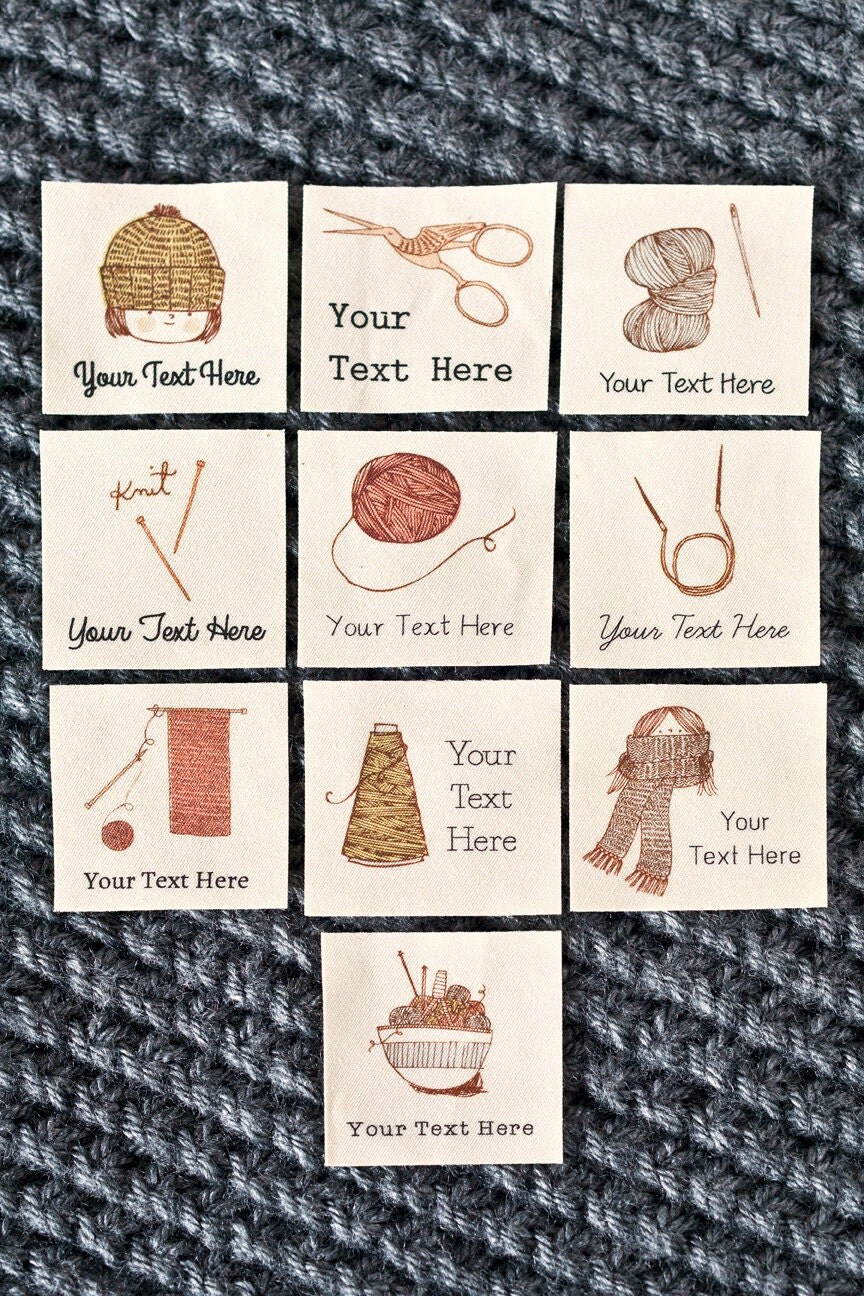 Knitting Labels Handmade : Crochet and knitting labels personalized by ananemone