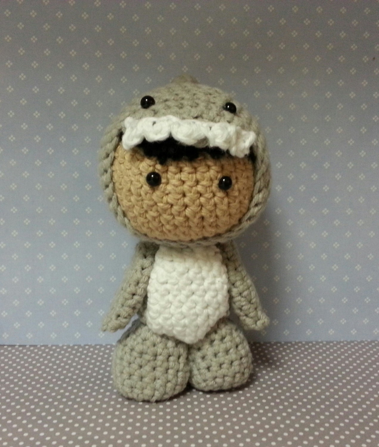 Amigurumi Doll in Great White Shark Costume by CrochetPaws ...