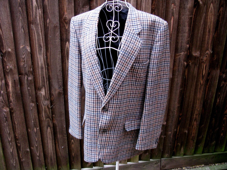 Pure New Wool Jacket Vintage Mens Jacket Wool Jacket Mens Wool Jacket English Gentleman Country Gentleman Tweed Jacket Wool Blazer