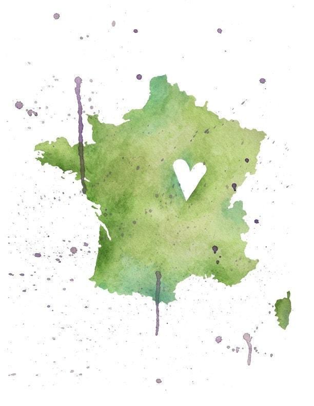 5x7 - France Love