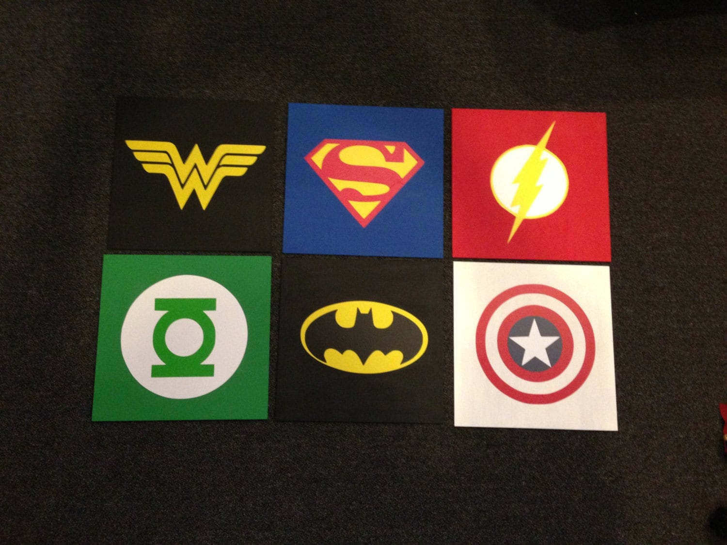 Superhero wood signs 12 x 12 by wickedwoodwork on etsy