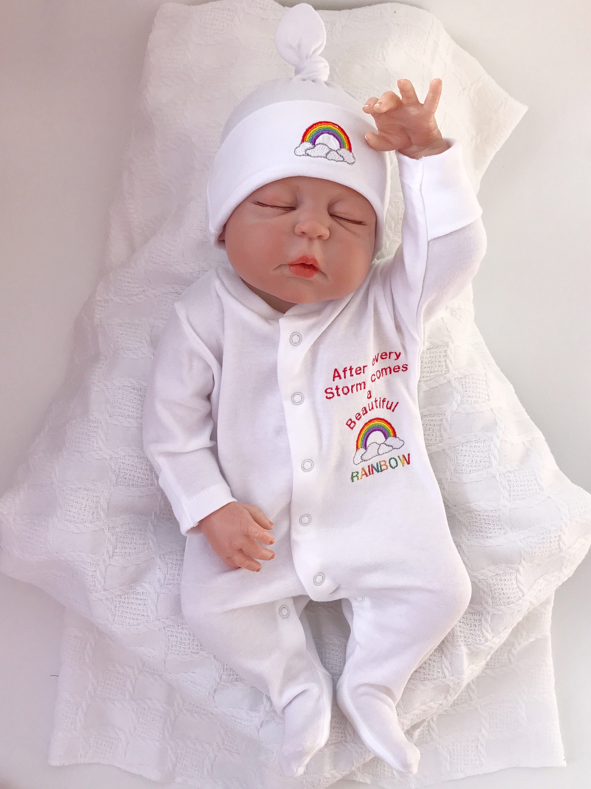 Rainbow Baby Clothes baby shower gifts Rainbow baby baby Girl clothes Baby boy clothes baby Rompers Baby Hats Rainbow babyshower gift