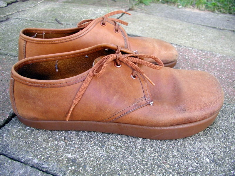 1970s Kalso Earth Shoes In Tan Leather By ChimpVintage On Etsy