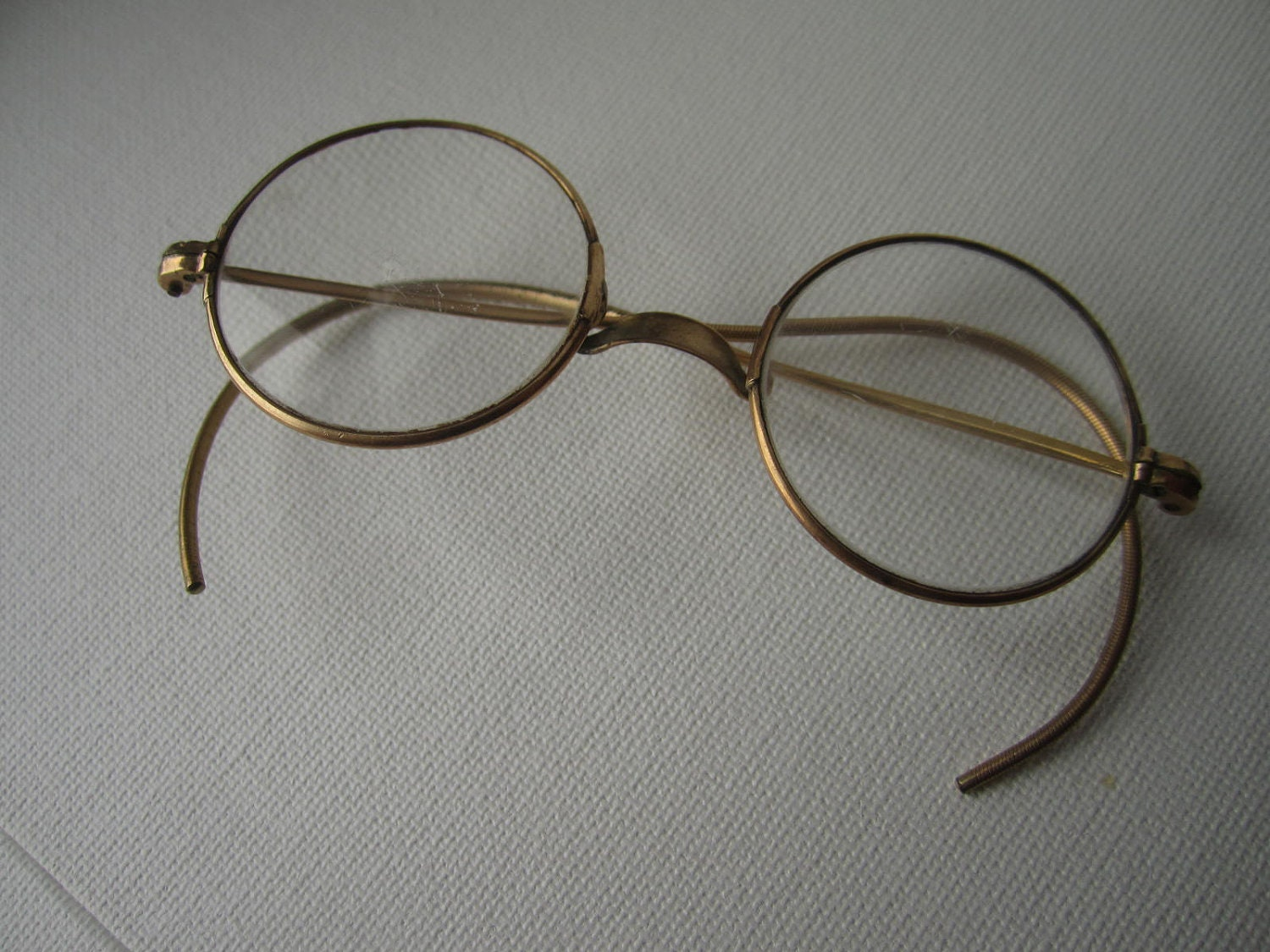 gold rimmed spectacles eye glasses free shipping by