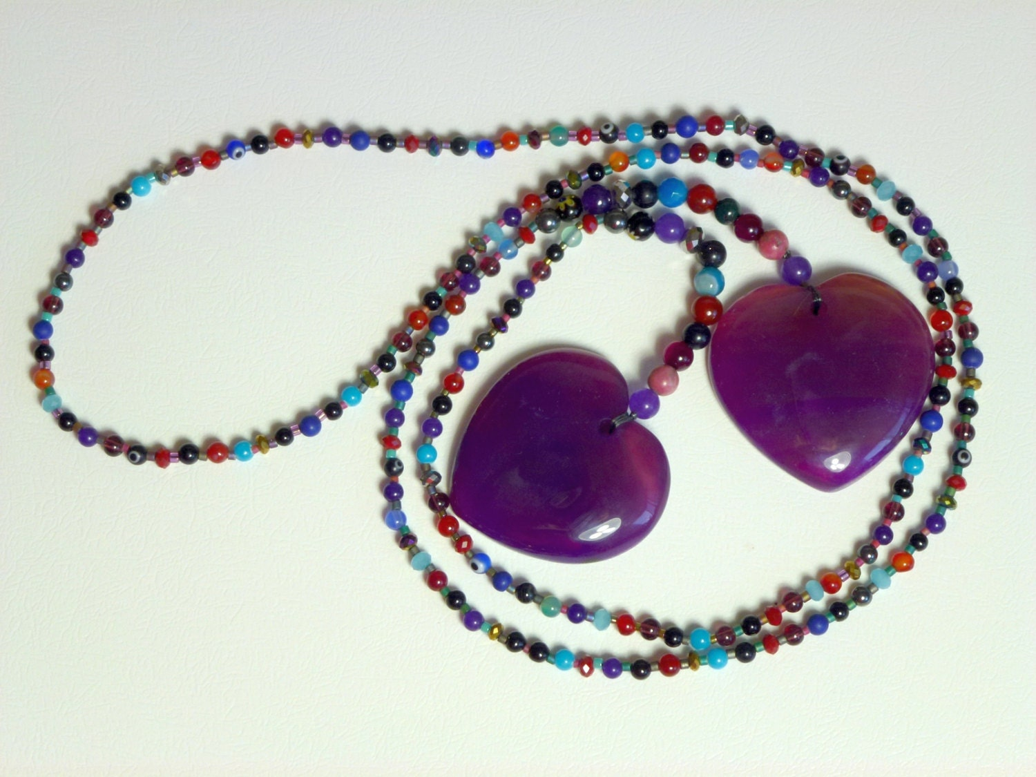 Breast massage healing stone necklace - mature