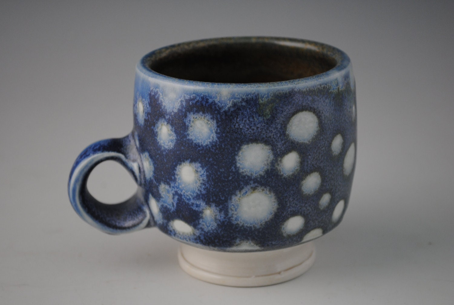 Cool Blue Ceramic Mug With White Spots By Jakesclayart On Etsy
