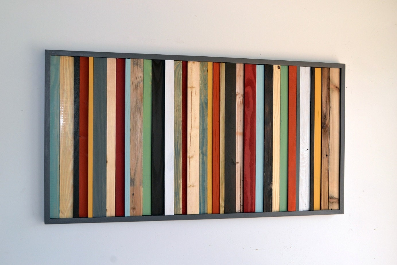 Vintage wood wall art