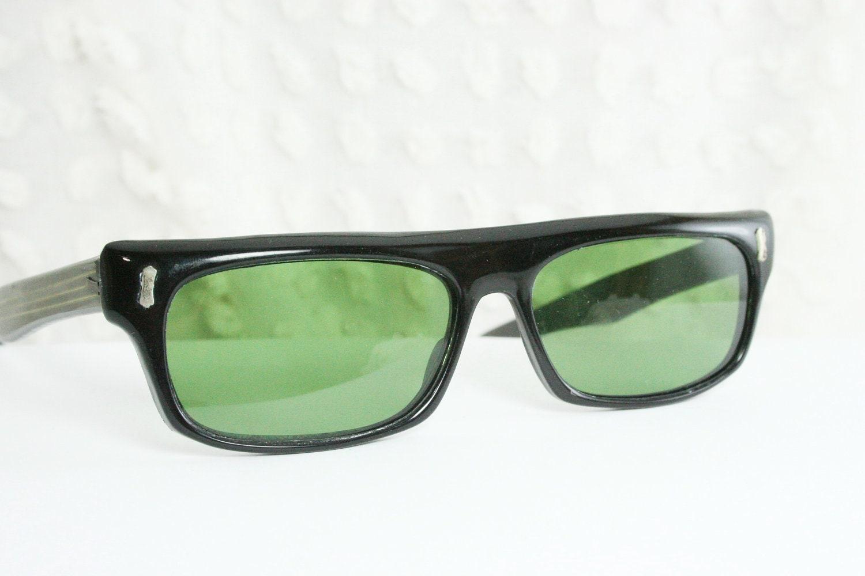 Vintage 60s Sunglasses 1960's Mens Sunglass Black by ...